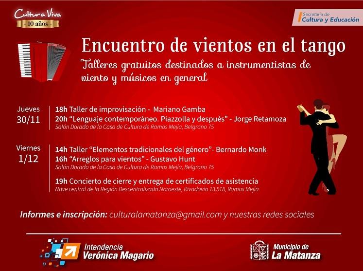 """Photo of Primer """"Encuentro de vientos en el tango"""" y cerrará el año del ciclo """"Conciertos de Gala"""""""