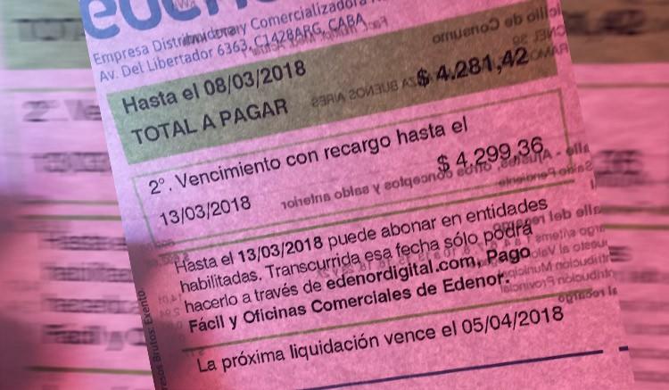 Photo of Aumentos en factura de Edenor