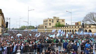 Photo of Con Moyano a la cabeza, sindicalistas se movilizaron a Luján