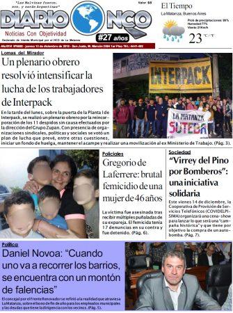 Leé la edición impresa de Diario NCO del 13-12-2018