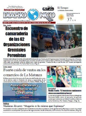 #BuenViernes Leé la edición impresa de Diario NCO del 22-02-2019