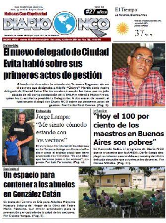 #BuenMartes Leé la edición impresa de Diario NCO del 19-02-2019