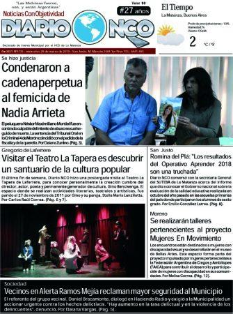 #BuenMiércoles Leé la edición impresa de Diario NCO del 20-03-2019