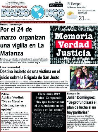 #BuenViernes Leé la edición impresa de Diario NCO del 22-03-2019