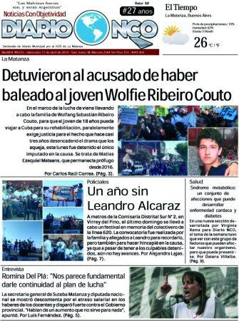 #BuenMiércoles Leé la edición impresa de Diario NCO del 17-04-2019
