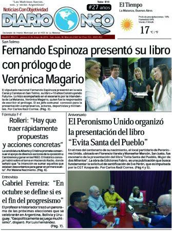 #BuenJueves Leé la edición impresa de Diario NCO del 23-05-2019