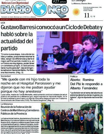 #BuenViernes Leé la edición impresa de Diario NCO del 24-05-2019