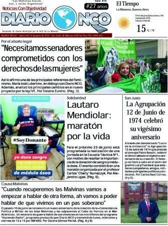 #BuenMiercoles Leé la edición impresa de Diario NCO del 19-06-2019