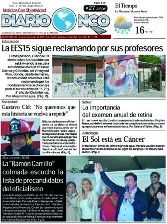 #BuenLunes Leé la edición impresa de Diario NCO del 24-06-2019