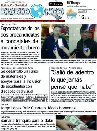 #BuenMartes Leé la edición impresa de Diario NCO del 25-06-2019