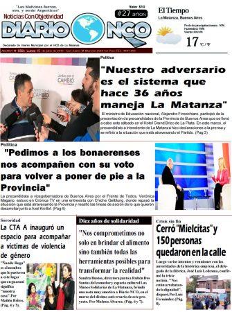 #BuenLunes Leé la edición impresa de Diario NCO del 15-07-2019
