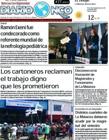 #BuenViernes Leé la edición impresa de Diario NCO del 23-08-2019