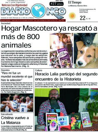 #Buen Miércoles Leé la edición impresa de Diario NCO del 18-09-2019