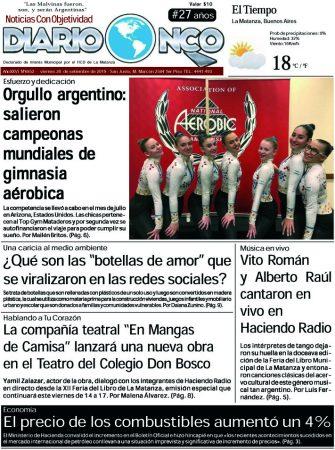 #BuenViernes Leé la edición impresa de Diario NCO del 20-09-2019