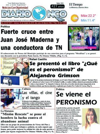 #BuenViernes Leé la edición impresa de Diario NCO del 18-10-2019