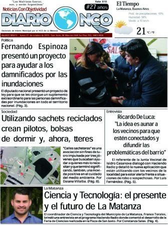 #BuenLunes Leé la edición impresa de Diario NCO del 21-10-2019