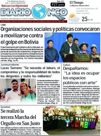 #BuenMartes Leé la edición impresa de Diario NCO del 12-11-2019