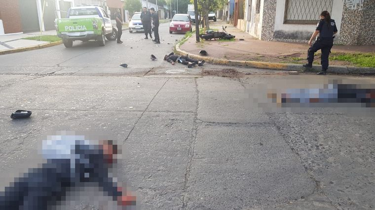 Murió un motochorro al chocar contra un patrullero