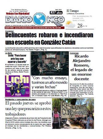 #Buen Jueves Leé la edición impresa de Diario NCO del 05-12-2019