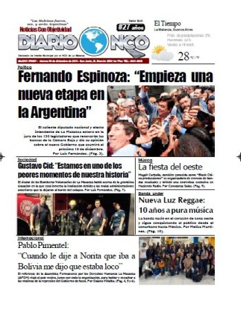 #Buen Viernes Leé la edición impresa de Diario NCO del 06-12-2019