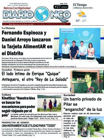 #Buen Miércoles Leé la edición impresa de Diario NCO del 22-01-2020