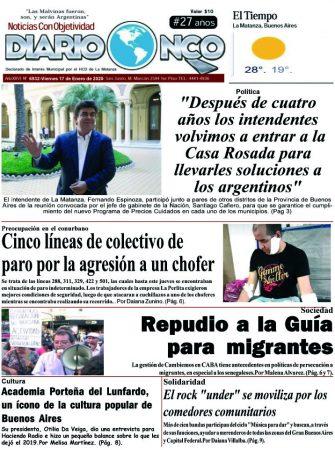 #Buen Viernes Leé la edición impresa de Diario NCO del 17-01-2020