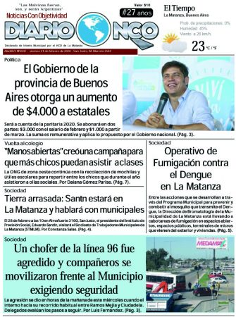 #Buen Viernes Leé la edición impresa de Diario NCO del 21-02-2020