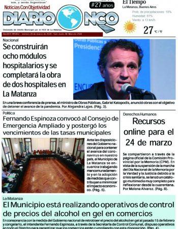 #Buen Viernes Leé la edición impresa de Diario NCO del 20-03-2020