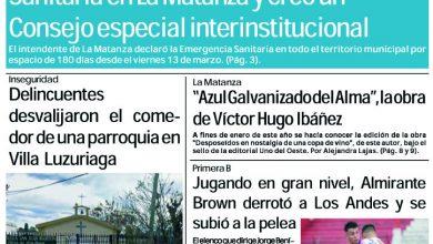 Photo of #Buen Lunes Leé la edición impresa de Diario NCO del 16-03-2020