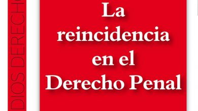 """Photo of Publicación del libro """"La  Reincidencia en el Derecho Penal»"""